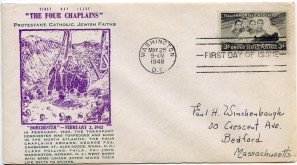 Four Chaplains First Day Cover142
