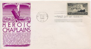 Four Chaplains First Day Cover145